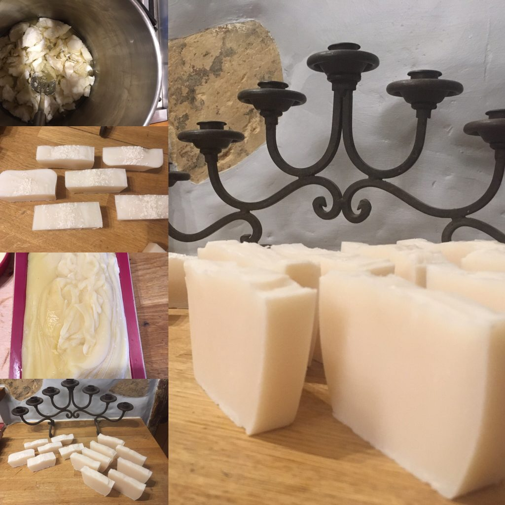 Coconut shampoo soap